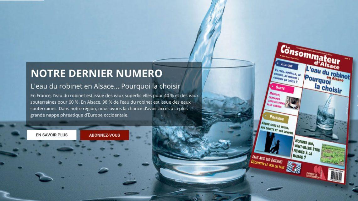 L 39 eau du robinet en alsace pourquoi la choisir - Qualite de l eau du robinet en france ...